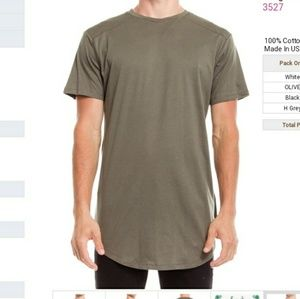 Other - Extended long green t-shirt